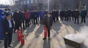 济宁曲阜市吴村镇开展消防安全应急实战演练活动